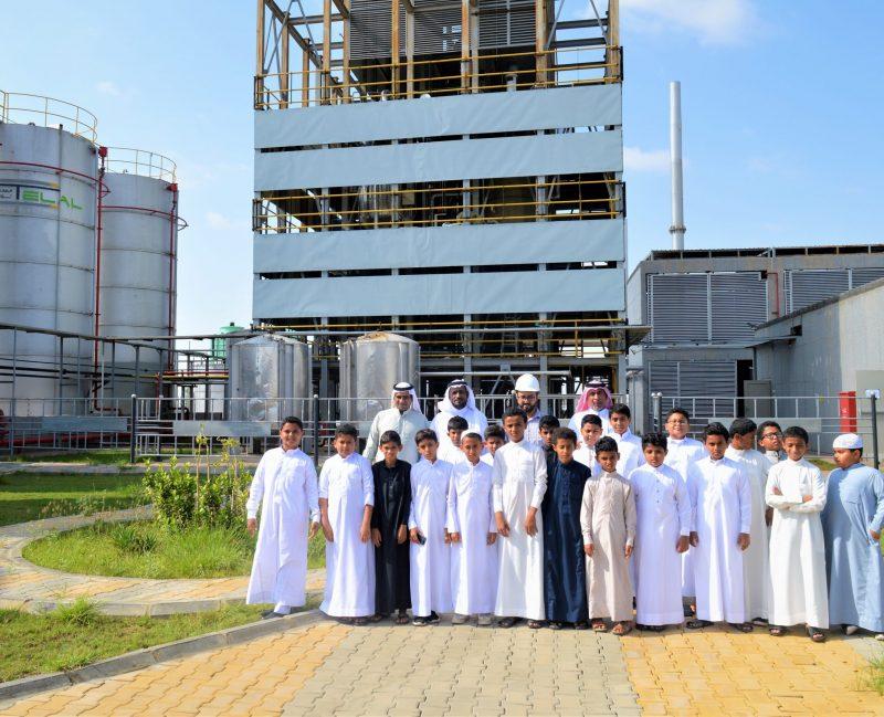 زيارة الطلاب لمصنع مصفاة تلال